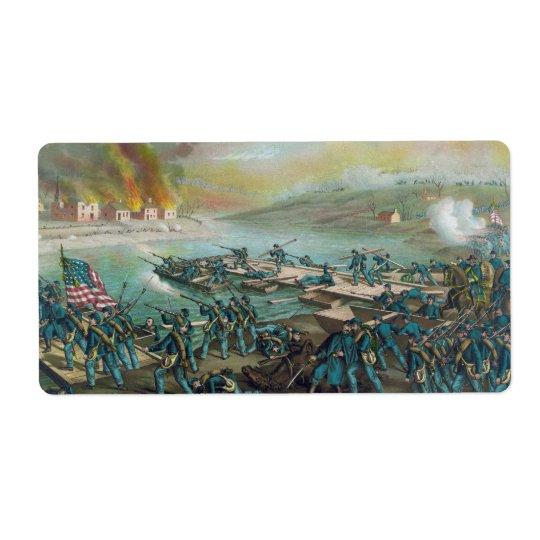 La bataille de Fredericksburg par Kurz et Allison Étiquette D'expédition