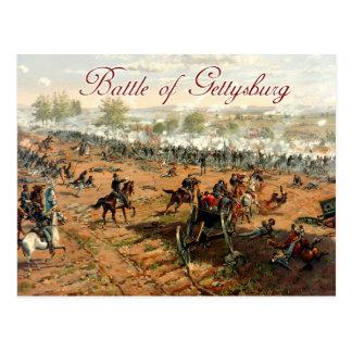 La bataille de Gettysburg Carte Postale