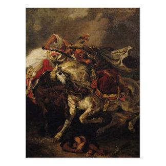 La bataille de Giaour et de Hassan Carte Postale