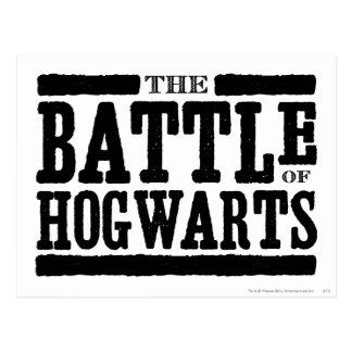La bataille de Hogwarts Carte Postale