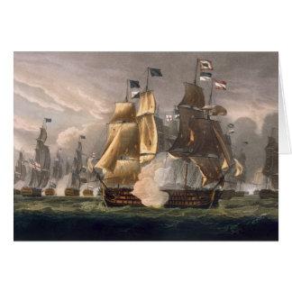 La bataille de St Vincent de cap, le 14 février 17 Carte De Vœux