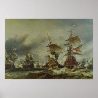La bataille de Texel, le 29 juin 1694 Posters