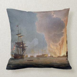 La bataille du Nil, le 1er août 1798, gravé Coussin Décoratif