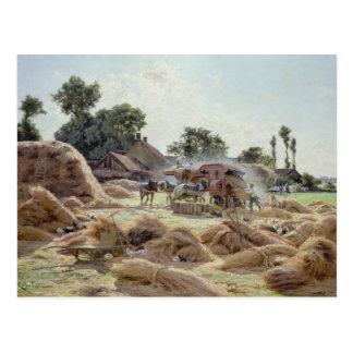 La batteuse 1896 carte postale