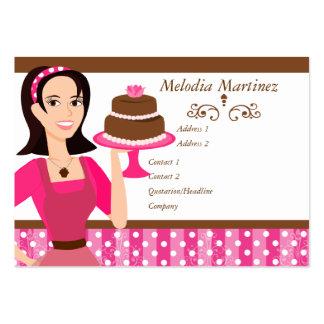 La beauté de gâteau avec s'est levée carte de visite