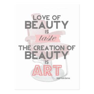 La beauté est carte postale de salon de coiffeur