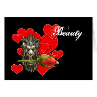 la beauté m'a laissé être votre carte de valentine