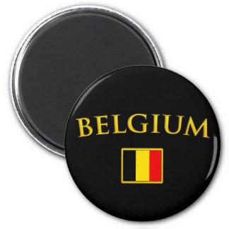 La Belgique d'or Magnet Rond 8 Cm