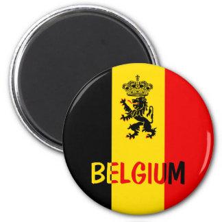 La Belgique Magnet Rond 8 Cm
