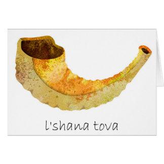 La belle carte Hashana-Juive de nouvelle année de