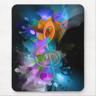 La belle éclaboussure fraîche colorée fleurit le tapis de souris