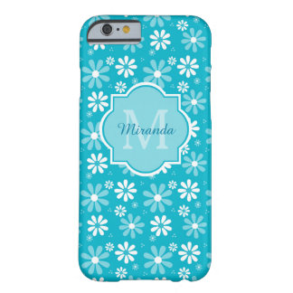 La belle marguerite de turquoise fleurit le coque barely there iPhone 6
