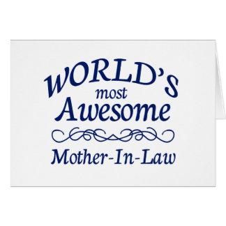 La belle-mère la plus impressionnante du monde carte de vœux