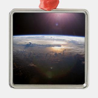 La belle terre Yuri Gagarin Ornement Carré Argenté