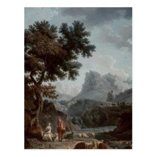 La bergère alpine carte postale