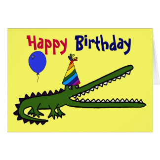 La BG carte de crocodile de joyeux anniversaire