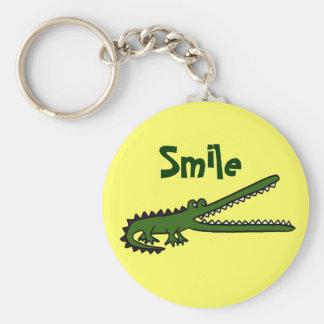 La BG porte - clé de sourire drôle de crocodile Porte-clé Rond