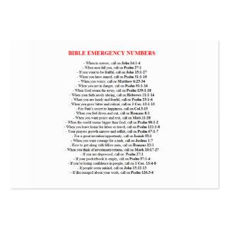 La bible de secours numérote des CARTES Carte De Visite