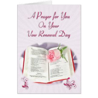 La bible et la prière rose pour le jour de carte de vœux