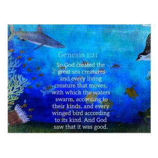La bible orientée de nature de 1h21 de genèse carte postale