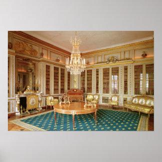 La bibliothèque de Louis XVI décorée en 1781 Poster