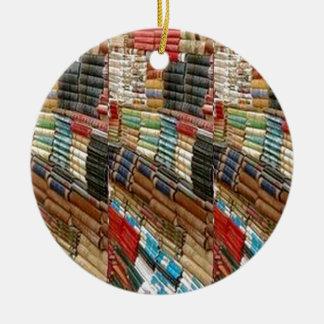 La bibliothèque de rat de bibliothèque de LIVRES Ornement Rond En Céramique