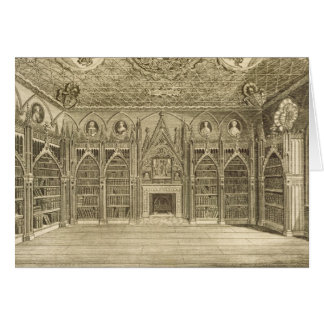La bibliothèque, gravée par Godfrey, de Cartes