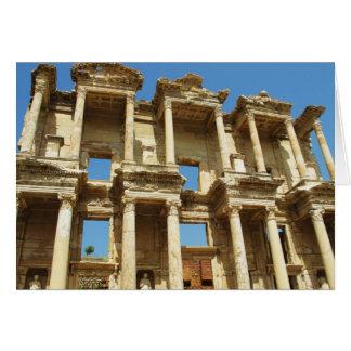 La bibliothèque romaine de Celsus, Ephesus, Carte De Vœux