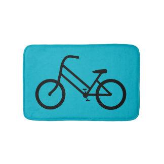 La bicyclette des femmes tapis de bain