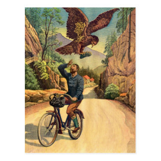 La bicyclette française Eagle de rétro kitsch Carte Postale
