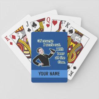 La bière drôle établissent la coutume d'humour cartes à jouer