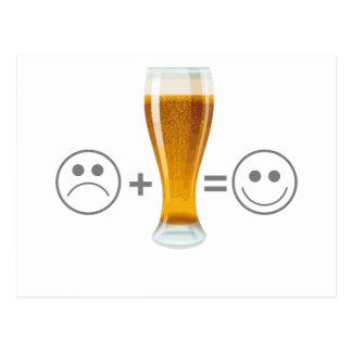 La bière me rend heureux carte postale