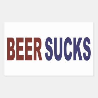 La bière suce sticker rectangulaire