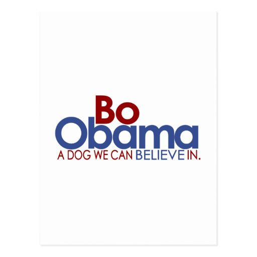 La BO Obama le chien Carte Postale