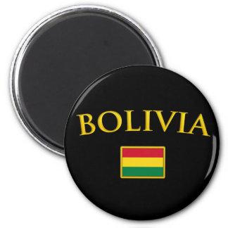 La Bolivie d'or Magnet Rond 8 Cm