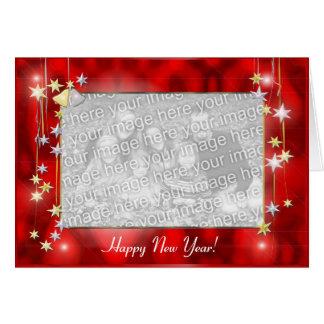 La bonne année se tient le premier rôle le cadre carte de vœux