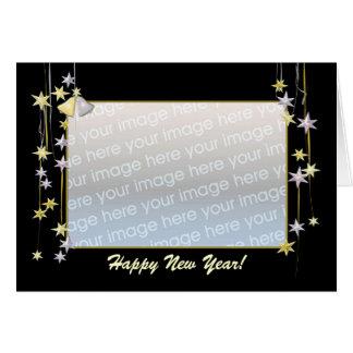 La bonne année tient le premier rôle le calibre carte de vœux