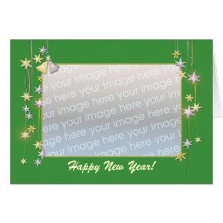 La bonne année tient le premier rôle le vert (le carte de vœux