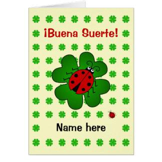 La bonne chance ajoutent le suerte nommé de buena carte de vœux