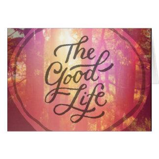 La bonne vie carte de vœux