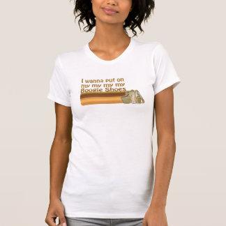 La boogie chausse le T-shirt de cru de disco