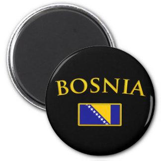 La Bosnie d'or Magnet Rond 8 Cm