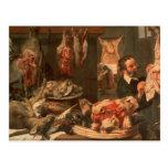 La boucherie carte postale