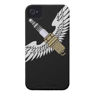 la bougie d allumage avec des ailes refroidissent coques iPhone 4