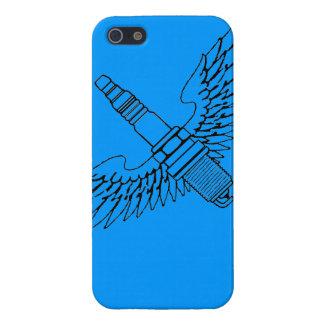 la bougie d allumage avec des ailes refroidissent coques iPhone 5