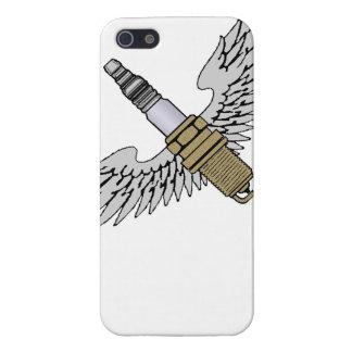 la bougie d'allumage avec des ailes refroidissent  étuis iPhone 5