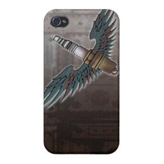 la bougie d'allumage avec des ailes refroidissent  coques iPhone 4/4S