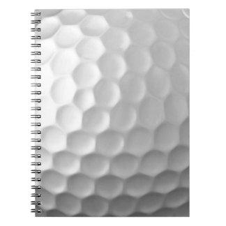 La boule de golf embrève le motif de texture carnet à spirale