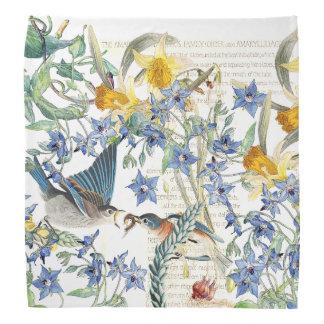 La bourrache de narcisse d'oiseaux d'oiseau bleu bandanas