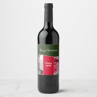 La bouteille de vin marque Noël Étiquette Pour Bouteilles De Vin